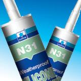Puate d'étanchéité neutre de silicones de remède d'oxime d'Un-Composant