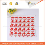 custom Security Label Printing Company 은 탬퍼 분명한 빈 스티커