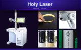 Gravure de marquage laser à fibre pour l'or de la machine de cuivre de la clé de l'aluminium, le marquage de couleur noir et blanc