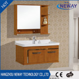 高品質の壁に取り付けられた純木の浴室の虚栄心