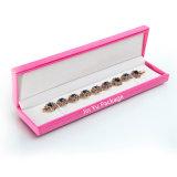 Rectángulo de empaquetado determinado del color de rosa de la PU de la joyería de cuero agradable del regalo