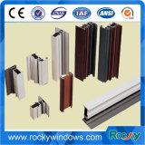 Perfil de capa rocoso de la aleación de aluminio de 6063 polvos con diverso color