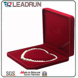 Bijoux Cadeau Velvet Cuir Emballage Emballage Box Rectangle Collier Box avec EVA Foam Leather Insert (YS31n)