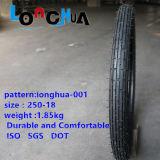 Neumático de calidad superior del frente de la motocicleta de la venta popular de la fábrica (2.50-17 2.50-18)