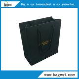 Volle schwarze Kunstdruckpapier-Geschenk-Beutel-Einkaufstasche für Kleidung