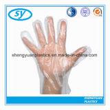 Wegwerfplastik-PET gefalteter HDPE-LDPE-medizinischer Paar-Handschuh