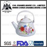 Chaleira de chá de esmalte de ferro fundido de qualidade superior com margem de escorregadio