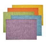 Matéria têxtil misturada emendada Placemat da cor 4X4