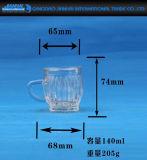 Support de bougie élevé de bouteille en verre de silex avec un traitement