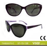 Moderner Entwurfs-Großverkauf-Form-Sonnenbrille-Azetat (75-B)