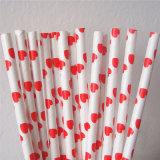 Rote Farben-Inner-Papier-Stroh für Hochzeitsfest