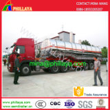 3axle 42cbm Fuel oil Tanker Stainless Steel Tank Truck Semi-Trailer card