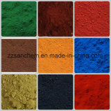 Óxido de hierro de los cosméticos rojo/amarillo/púrpura/negro/pigmentos de Brown