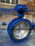Клапан-бабочка триппеля уплотнения металла Dn450 ексцентрическая/смещенная с шестерней