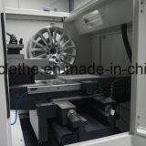 プローブCNCの車輪の切断の旋盤車の合金修理機械Awr2840PCのデジタル化