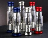 普及した携帯用ガラスティーカップのギフトのガラスコップの再生利用できるコップ