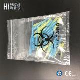 Ht-0722 Bolsa para muestras de biohazard de tres paredes con una bolsa de documentos