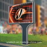 LEDのメガライトボックスを広告する屋外の通路の道媒体の画像の旗の柱