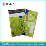 Selbstklebende kundenspezifische Muster-Farbe gedruckter Pfosten Polymailer Beutel