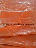 PE Bâche tente, feuille de la bâche de protection bleu/orange