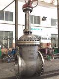 Válvula de puerta dirigida por engranaje del acero de molde del estruendo Dn700 Pn25