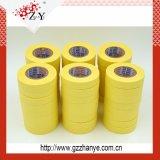 Selbstbewegende gelbe Wärme widerstehen selbsthaftendem Kreppband für Auto-Farbanstrich-Schutz
