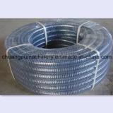 Tubo flessibile a spirale del PVC del filo di acciaio, tubo flessibile di aspirazione dell'acqua del PVC