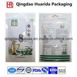 Porcas de selo laterais do produto comestível três do entalhe do rasgo que empacotam o saco
