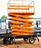 Móvil aérea de trabajo hidráulico de tijera