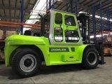 Dever da carga pesada Forklift do caminhão de 10 toneladas com cabine