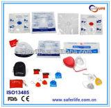 Маска CPR ISO одностороннего Ce УПРАВЛЕНИЕ ПО САНИТАРНОМУ НАДЗОРУ ЗА КАЧЕСТВОМ ПИЩЕВЫХ ПРОДУКТОВ И МЕДИКАМЕНТОВ США барьера дыхания скорой помощи Earloop защитной маски клапана устранимая комбинированная