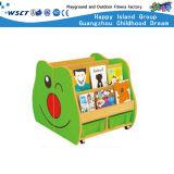 動物デザインはからかう木の子供の棚の本箱の収納キャビネット(Hc-3706)を