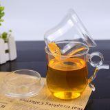 Cuvette de thé fabriquée à la main en verre créatrice de cuvette de thé avec le filtre