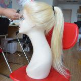 Moda Perucas de cabelo humano brasileiro Perucas completas de renda com cabelo pré-arrancado de bebê