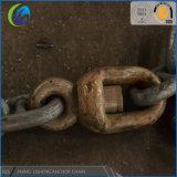 Promoción de la fabricación de la cadena de ancla en Stock U3 92mm y 105mm enlace marina de la cadena de ancla
