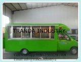이동할 수 있는 간이 식품 트럭 또는 체더링 손수레 체더링 간이 건축물