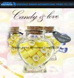 Hart-vorm de Container van de Opslag van het Glas van het Glaswerk met Cork voor Giften