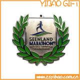 경쟁 (YB-m-021)를 위한 싼 주문 금속 은메달 또는 큰 메달