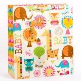 반짝임 아기 선물 종이 봉지 반짝임과 걸림새 꼬리표를 가진 광택 있는 박판 부대
