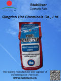 プールの安定装置- Cyanuric酸の粉か粒状