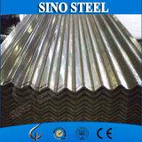 Hoja acanalada galvanizada cubierta cinc del material para techos