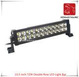 13.5 인치 72W 도로 빛과 LED 모는 빛 떨어져 SUV 차 LED를 위해 방수 두 배 줄 LED 표시등 막대의 LED 차 빛