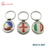 Drapeau national Keychain pour la promotion Using