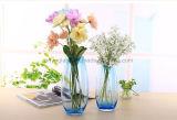 花のための高いステンドグラスのつぼ