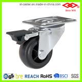 Schwenker-Platte mit Bremsen-Fußrollen-Rad (P105-30C075X32Z)