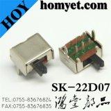 ディップスイッチかトグルスイッチまたはスライドスイッチ(SK-22D07)