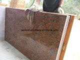 Brame Polished de granit de brame rouge foncé de granit d'érable pour le dessus de vanité de contre- dessus