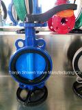 Nylon Coated клапан-бабочка вафли диска с рукояткой/электрическим силовым приводом