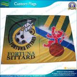 축구 클럽 깃발, 폴리에스테 깃발, 깃발 (NF01F03032)를 광고하는 주문 깃발