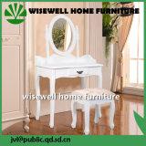 Muebles modernos tocador de madera con las heces (W-HY-031)